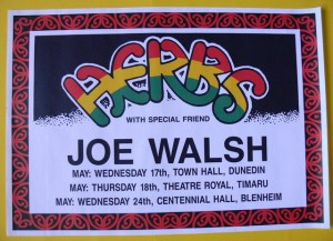 Herbs-Joe Walsh Concert Poster - Hugh Lynn Collection Memorabilia